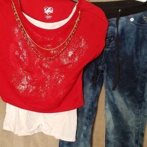 Justice shirt and Leggings